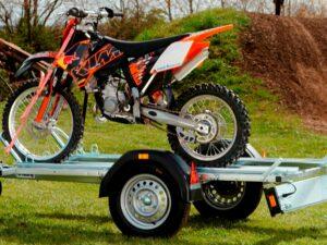 remorque porte moto 2 rails